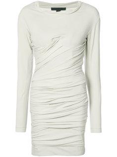 короткое платье-бюстье со сборками Alexander Wang