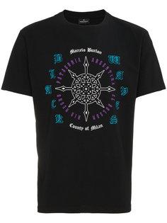 футболка с короткими рукавами с принтом Rosone Marcelo Burlon County Of Milan