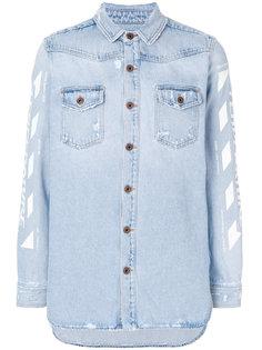 джинсовая рубашка Temperature Off-White