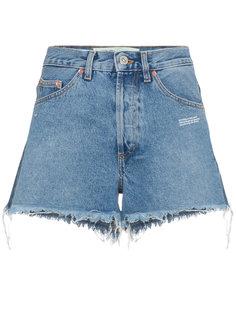 джинсовые шорты с завышенной талией  Off-White