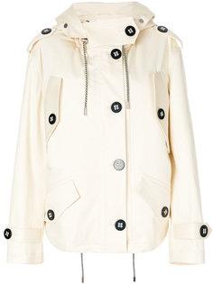 однобортная куртка с капюшоном  Victoria Victoria Beckham