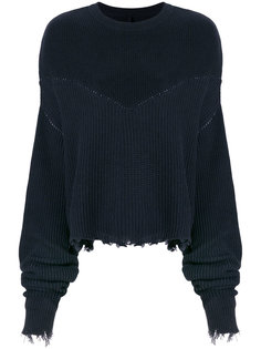 свитер в рубчик  с бахромой Unravel Project