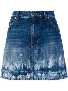 джинсовая юбка с выцветшим эффектом Saint Laurent