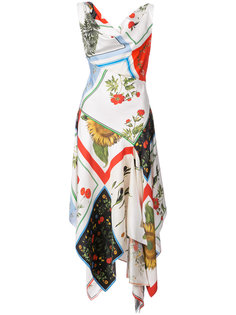 платье в стиле пэчворк  Monse