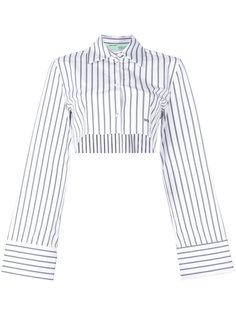 укороченная полосатая рубашка  Off-White
