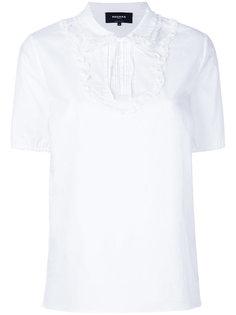 блузка с оборками спереди Rochas