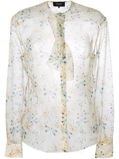 прозрачная блузка с цветочным принтом Rochas