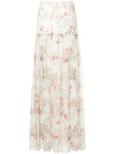 юбка-макси с цветочным принтом Giambattista Valli