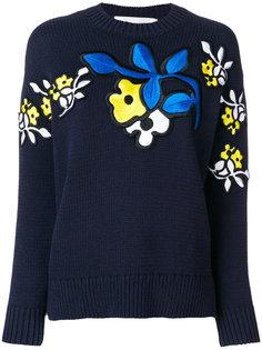 свитер с цветочной вышивкой Victoria Victoria Beckham
