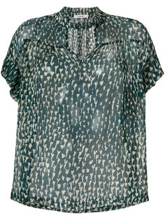 прозрачная блузка с короткими рукавами Humanoid