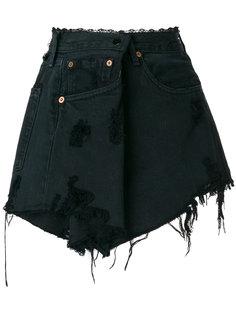 рваная джинсовая юбка Almaz