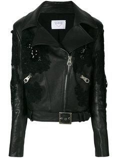 байкерская куртка с кружевной отделкой Almaz