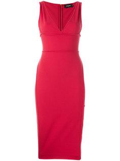 прталенное платье с V-образным вырезом Dsquared2