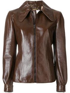 куртка с удлиненным воротником и застежкой на молнию Chloé