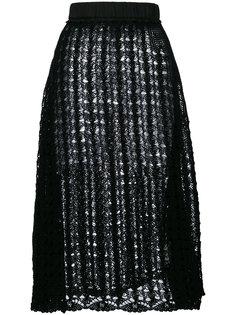 трикотажная юбка А-образного силуэта Jil Sander