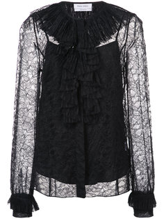 pleated lace blouse Prabal Gurung