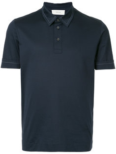 рубашка-поло с контрастной строчкой Cerruti 1881