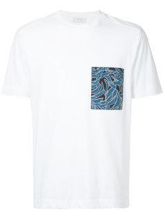 футболка с нагрудным карманом с тропическим принтом Cerruti 1881