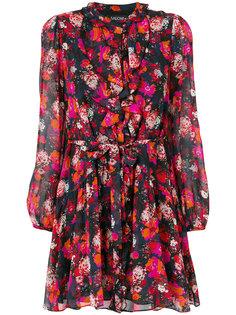 платье с талией на завязке с цветочным принтом Saloni