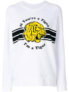 толстовка с тигром и надписью  Zoe Karssen