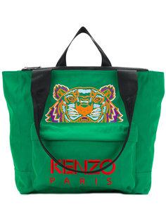 сумка-тоут с вышивкой тигра Kenzo