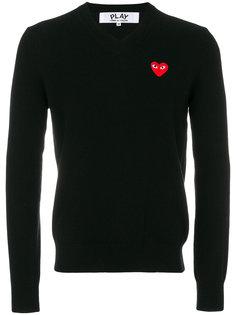 свитер с сердцем Comme Des Garçons Play