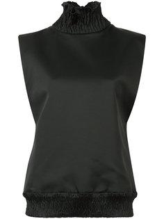 блузка с высокой горловиной без рукавов Maticevski