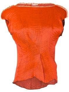 фактурная блузка с широкими плечами Maticevski