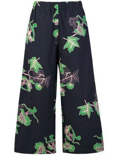 брюки с растительным принтом  Vivetta