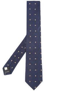 галстук с вышивкой Kent & Curwen