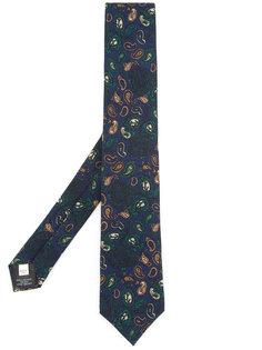 галстук с узором пейсли Kent & Curwen