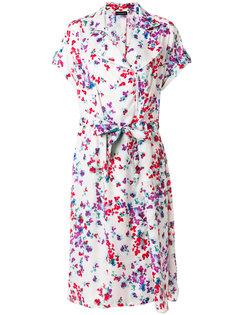 платье с цветочным акварельным принтом  Emporio Armani