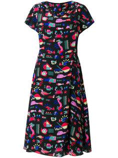платье миди с принтом  Emporio Armani