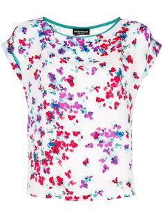 блузка с цветочным принтом Emporio Armani