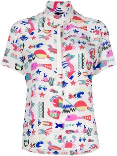 блузка с принтом  Emporio Armani