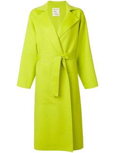 длинное пальто с поясом  Maison Rabih Kayrouz