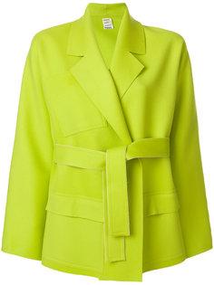 укороченное пальто с поясом Maison Rabih Kayrouz