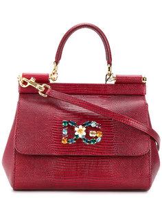 сумка-тоут Sicily с бляшкой с логотипом Dolce & Gabbana