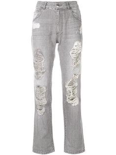 джинсы с высокой талией и рваным эффектом Each X Other