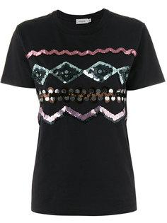 декорированная футболка Zigzag  Coach
