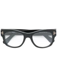 объемные очки в квадратной оправе Tom Ford Eyewear
