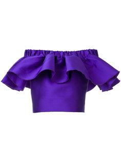 блузка с расклешенными спущенными рукавами Maison Rabih Kayrouz