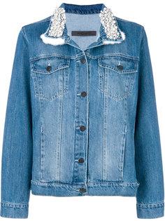 джинсовая куртка с декорированным воротником Simonetta Ravizza