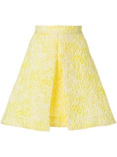 стеганая А-образная юбка с вышивкой  MSGM