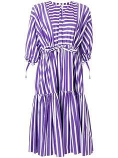 полосатое расклешенное платье Maison Rabih Kayrouz