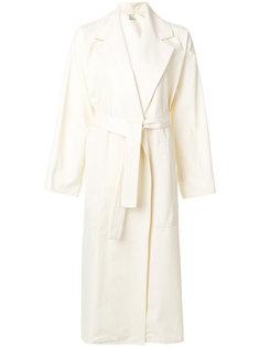 пальто средней длины с поясом Maison Rabih Kayrouz