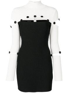 приталенное платье с контрастными панелями David Koma