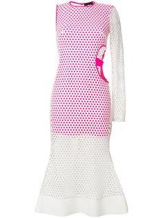 асимметричное расклешенное платье David Koma
