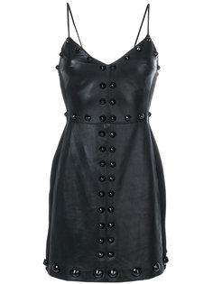 платье мини с заклепками  David Koma