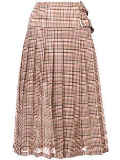 клетчатая юбка в складку Toga